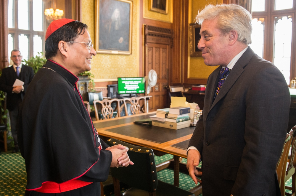 Cardinal Bo of Burma with Mr Speaker