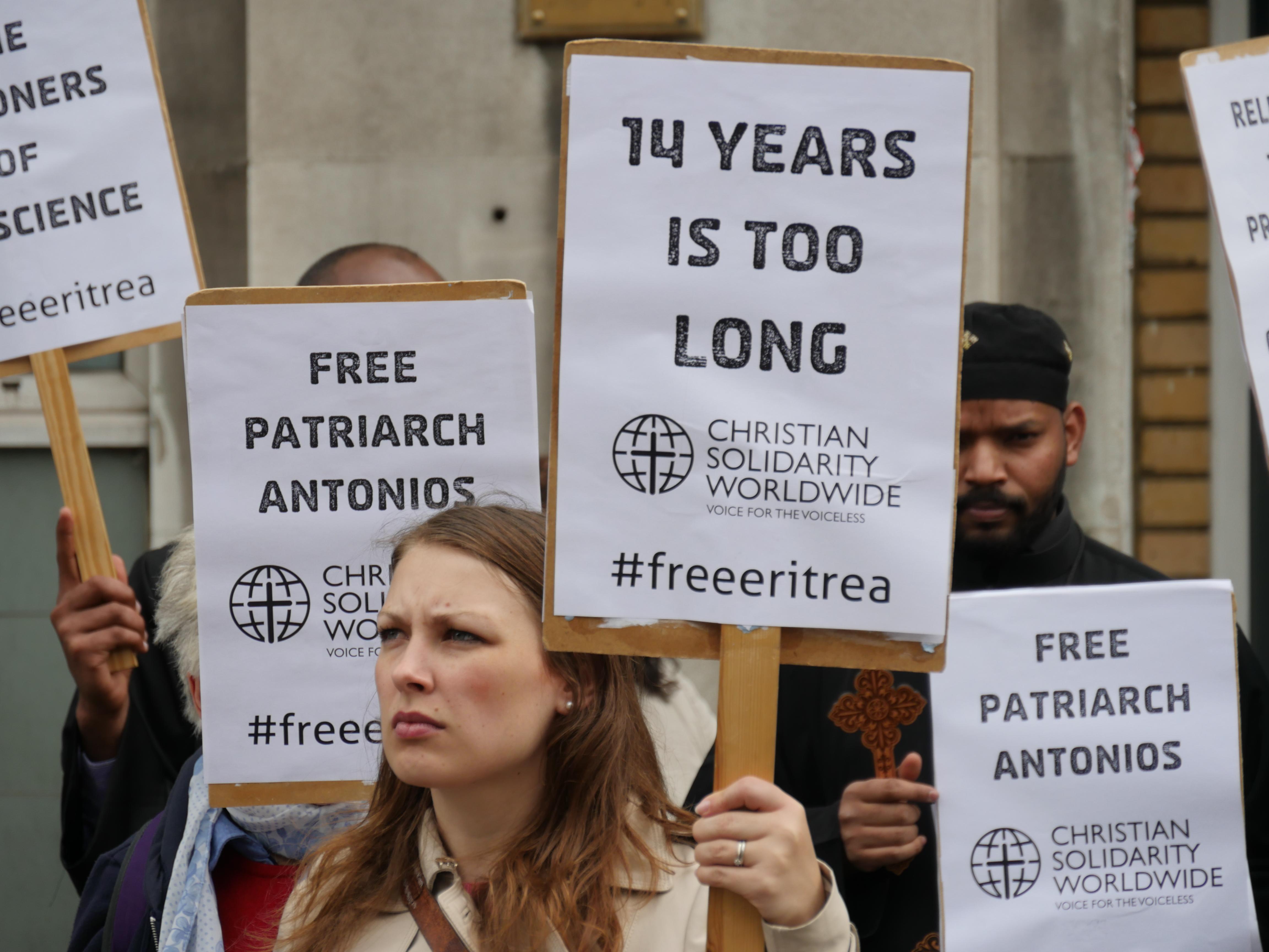 Heather Fenton protesting.JPG