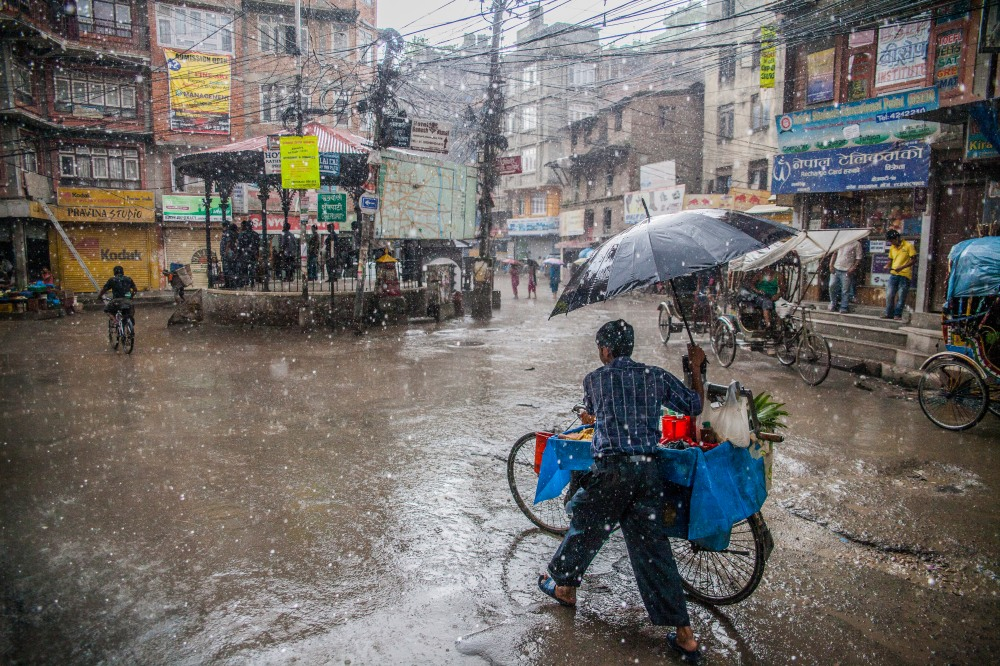 Street scenes in the historical center of Kathmandu, Nepal